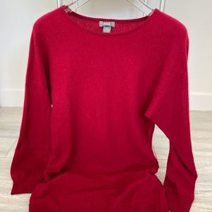 Neiman Marcus Tunic Cashmere Sweater - Red Size M